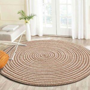 Knit Woven Saloon Table Round Carpets Chair Yoga Rug  Footcloth Prayer Mats