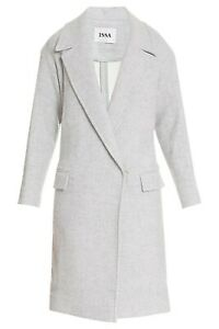 Issa London Robin Grey Wool Coat Size XS
