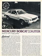 1975 Mercury Bobcat  Road Test Original Car Review Print Article J657