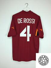 Roma DE ROSSI #4 04/05 Home Football Shirt (XL) Soccer Jersey Serie A Diadora