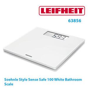 Soehnle Style Sense Safe 100 White Digital Bathroom Scale Large Display 63856