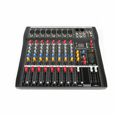 8 Channel bluetooth Live Studio Audio Mixer power mixing Amplifier with Usb Usa
