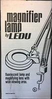 Vintage NEW Ledu Articulating Swing Arm Magnifying Research Desk Work Shop Lamp