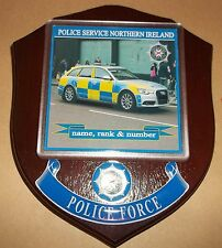 Northern Ireland Police Traffic Control Wall Plaque personalised free of charge.