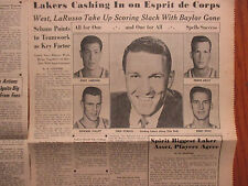 1962 ALL-SPORTS NEWS/Sporting News Insert(FRED SCHAUS/JACQUES PLANTE/MILES AIKEN
