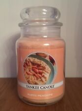 YANKEE CANDLE RUSTIC PEACH PIE LARGE JAR CANDLE ~ Brand New ~