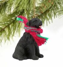 Newfoundland Dog Christmas Ornament Holiday Figurine Scarf