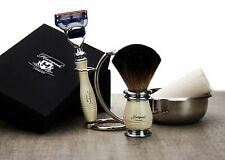 Ivory Color 5 Pieces Men's Shaving Set. Perfect As a Gift This Christmas For HIM