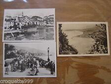 carte postale Postcard de MENTON promenade du midi vieille ville de la mer port