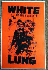 White Lung 2014 Gig Poster Portland Oregon Concert Deep Fantasy