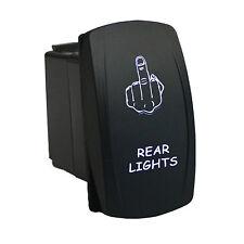 Rocker Switch 6B72W Laser REAR LIGHTS dual led WHITE 12V ATV UTV offroad 4x4