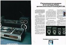 Publicité Advertising 1978 (2 pages) La Chaine Hi-Fi RPC 450 Grundig
