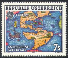 Austria 1992 Europa/Columbus/barcos/exploradores/Náutica/mapas 1 V (n32025)