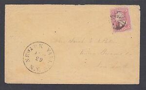 US Sc 64 on 1891 cover, 3c pink Washington NEWARK VALLEY NY - UNION NY, Cert.