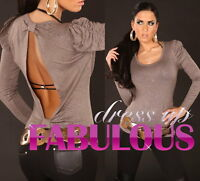SEXY WOMENS PARTY CASUAL JUMPER TOP CLUBBING EVENING FOR LADIES Size 10 12 / M L