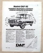D460-Advertising Pubblicità-1975 - NUOVA DAF 46