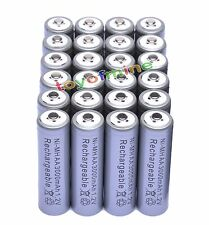24x AA 3000mAh 2A 1.2 V Ni-MH Grey Rechargeable Battery Cell for MP3 RC Toys