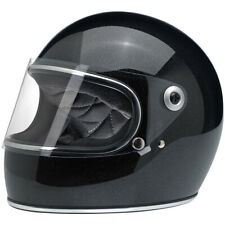 Biltwell Closeout Gringo S Full Face DOT Helmet - Midnight Black Miniflake