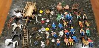 Vintage Playmobile Lot (Wagon, Indians, Weapons, Cowboys, Horses, Polar, Snake)