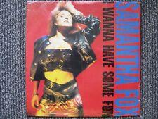 Samantha Fox - Wanna Have Some Fun - OOP BMG Rec.  In Shrink LP EX
