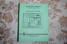 Singer Adjusters Timing Adjusting Service Manual for 750 756 758 Sewing Machines