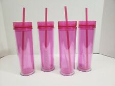 Maars Classic Insulated Skinny Tumblers 16 Oz. Double Wall Acrylic 4 Pack