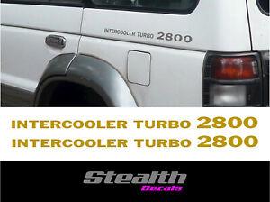 Intercooler turbo 2800 fits Shogun pajero sticker/decal Premium Gold x2