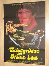 The Dragon, the Hero - GERMAN CINEMA POSTER - EASTERN - Todesgrüße von Bruce Lee