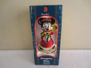 Santa's Best Mickey Mouse Marching Bande Européen Soufflé Verre Noël Ornement