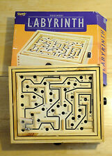 FUNDEX LABYRINTH SOLID WOOD TABLE MAZE SOLITAIRE GAME