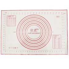 Backmatte Blatt 60x40 cm Rollteig Gebaeck Kuchen Backformen Liner Pad Silik I4I1