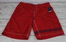 3e6accdb8f NEW Nautica Men's Quick Dry Double Stripe Swim Trunks Nautica Red 30W $69.50
