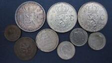 Silber Lot Niederlande 3x1 Gulden, 25 Cent, 3 x 10 Cent, 1Cent , 1/2 Cent(RG187)