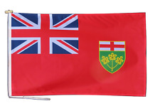 More details for ontario canada flag with rope and toggle - various sizes