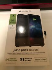 mophie Juice Pack Access Battery Case Durable for iPhone XS Max Black