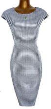 Stunning ZARA Monochrome Houndstooth Stretch Wiggle Pencil Dress L UK 14 US 10