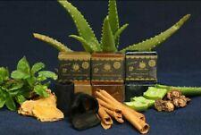 Activated Bamboo Charcoal Organic Aloevera Gel & Glycerin Cinnamon  soap 80g