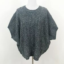 M Rena Oversized Sweater Chunky Knit Dolman Sleeves One Size Blue New with tags
