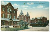 Postcard Bath NY Soldier's & Sailor's Home Street View Buildings A B C 1910's