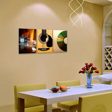 HD Canvas Print Wall Art Paintings Pictures -Music CD Guitar MP3 Player Unframed