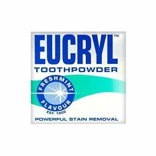 Eucryl Smokers Freshmint Toothpowder | Powerful Stain Remover | - 50g