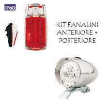 KIT Fanale Luce Anteriore + Posteriore LED Bici Olanda - R - Graziella Parafango