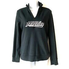 Pittsburgh Penguins Hockey Embroidered Quarter Zip Top Women's Small Reebok