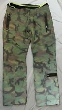 Bogner Men's Dark Green Iridescent Camouflage Insulted Ski Snow Pants Size 40 Xl