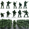 50 pcs Military Plastic Toy Soldiers Army Men Green 1:36 Figures 10 Poses