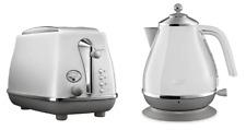 Delonghi CTOC2003W KBOC2001W Icona Capitals Toaster + Kettle PACK - Sydney White