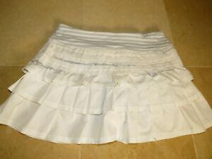 Lululemon 4 Back On Track Skirt White Silver Spoon Classic Stripe EUC! Rare!
