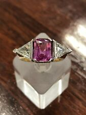 ESTATE - 18ct Pink Sapphire And Diamond Ring - With Valuation For 29,290.00