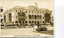 Peru Lima - Palacio de la Municipalidad 1949 airmail cover 70 cents solo use PPC