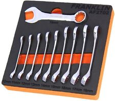 Franklin 10 Piece Short Combination Spanner Set Metric 10 - 19mm EVA foam AF2702